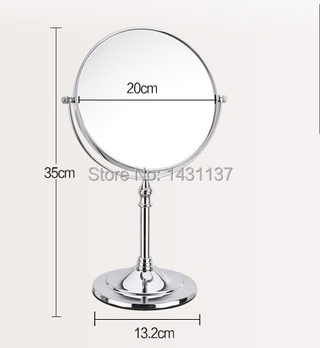 Chrome 3times magnifying make up mirror brass material  folding retractable 8' bathroom  office double faced mirror mirror silver chrome vespa open face