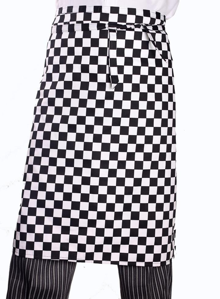 Black And White Plaid Chef Aprons Kitchen Aprons Family Hotels Aprons  Waterproof Anti Oil