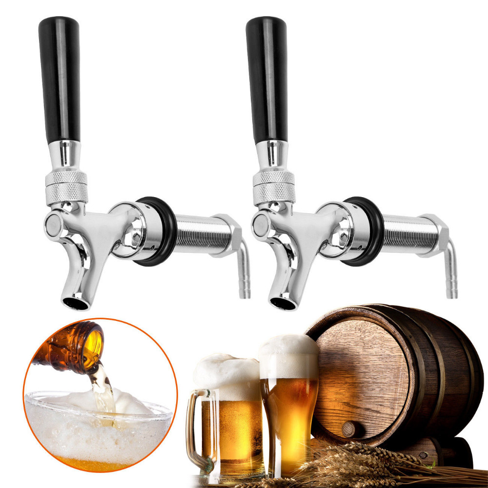 Фото (Shipping  From AUD )2Pcs 80mm Long Shank Keg Tap Fittings Beer Tap Keg Auto Close Fridge Brewing