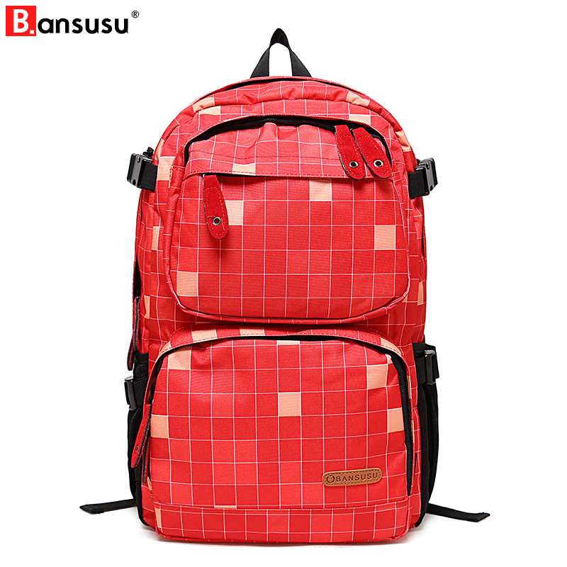 Bansusu backpack Student College Water Repellen Polyester Backpack women Material Quality