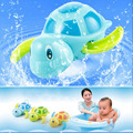 Color Al Azar los Recién nacidos esenciales de natación tortuga herida-up pequeña cadena animal Bebé juguetes de baño Niños juguetes clásicos