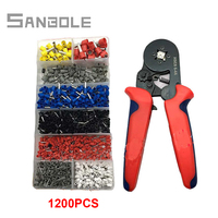HSC8 6-4A 0.25-6mm2 23-10AWG crimping pliers Mini round nose plier tube needle with terminals box tools