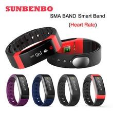 Новые SMA Band Bluetooth 4.0 смарт-браслет сердечного ритма Мониторы сна трекер OLED Водонепроницаемый PK ID107 Ми Band2