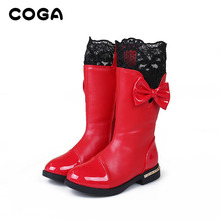 2017 version de la version Coréenne de la bottes dentelle plus de velours fille coton chaussures de neige bottes marée bottes