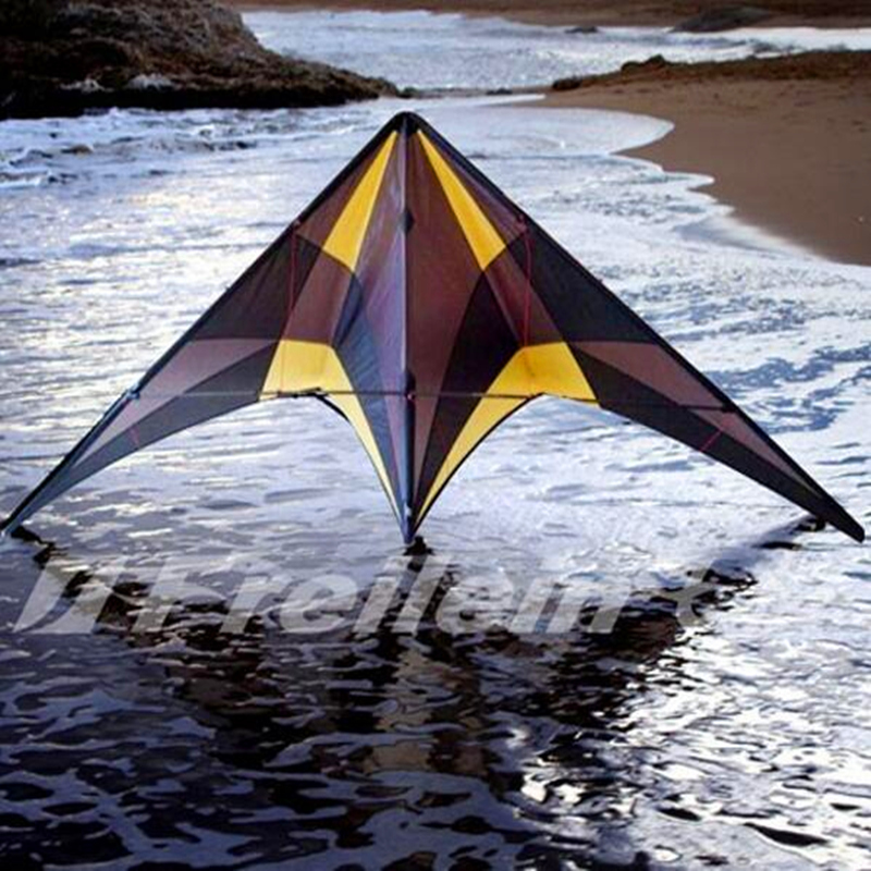 free shipping high quality Blackjazz  quad line stunt kite with handle line outdoor toys flying Freilein rolling kite albatross pair of gorgeous beads triangle earrings for women