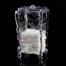 Butterfly Clear Empty Nail Art Remover Makeup Cotton Holder Cleaning Pads Wraps Storage Organizer Container Stand Case Easy Take