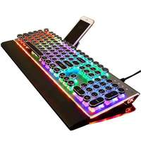 101 QWERTY Anti-Fade STEAMPUNK Keycaps USB Filaire Gaming Mécanique Led Backlits Multimédia Clavier Ordinateur PC Souris Gamer