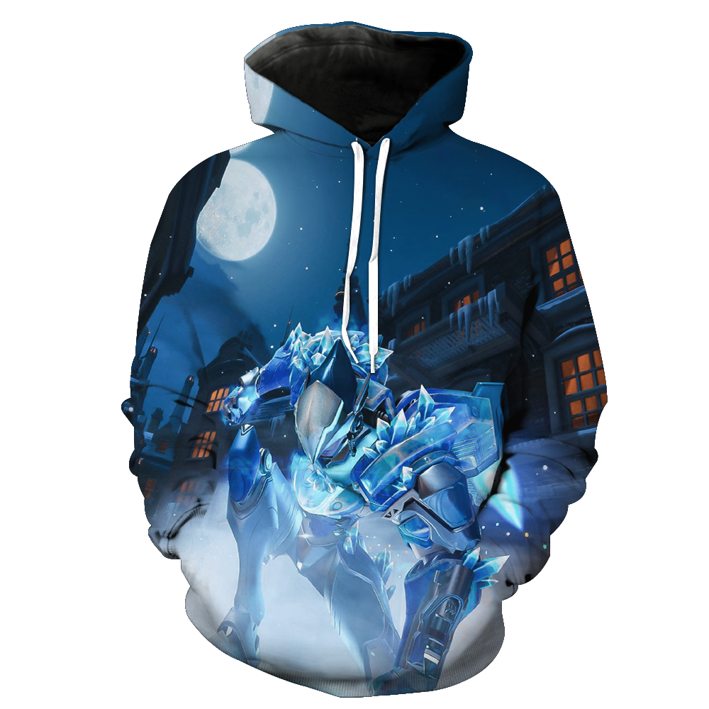 Fashion Men/women Hoodies With Cap Print Overwatch 3d Hooded Sweatshirts Hoody Tracksuit hooded Tracksuits Hoome Tops Unisex