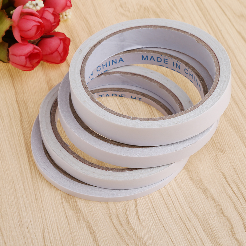 5mm 8mm 10mm 15mm  double sided tape double faced tape adhesive 1 roll package double sided adhesive two sided tape 1 pcs deli 2 4cm 10y super slim strong adhesion white double sided tape doubles faced adhesive for office supplies