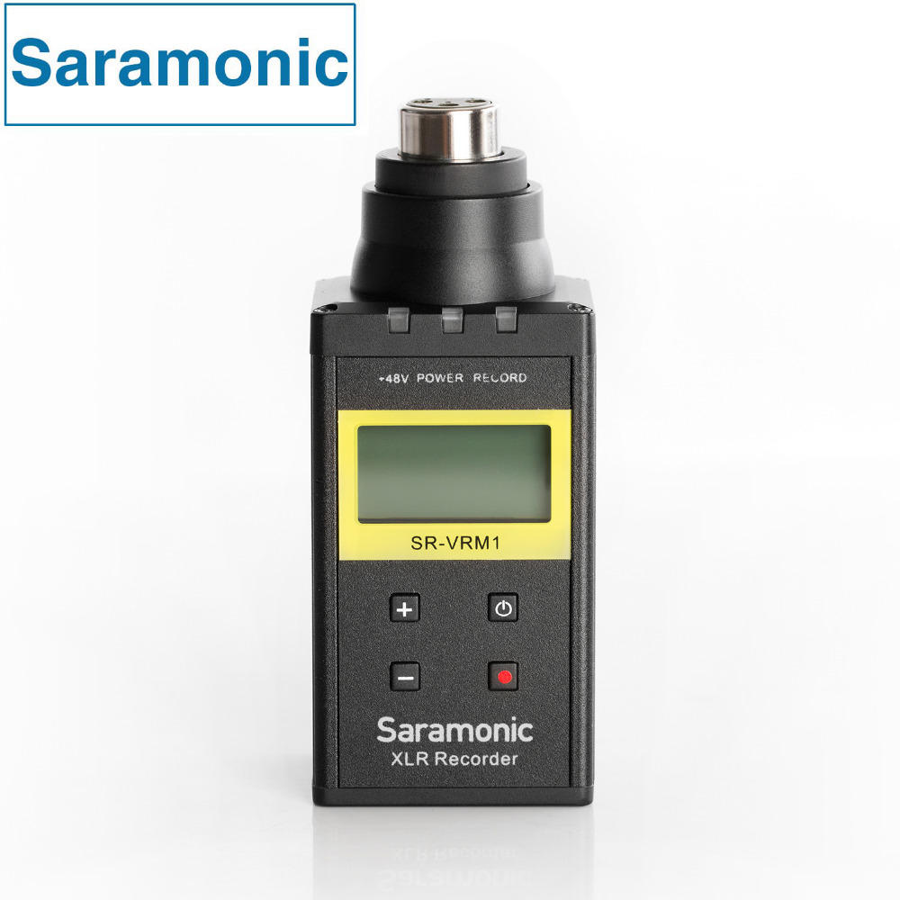 Saramonic SR-VRM1 цифровой разъем на линейный PCM Регистраторы с Phantom Мощность ЖК-дисплей Дисплей для XLR микрофоны