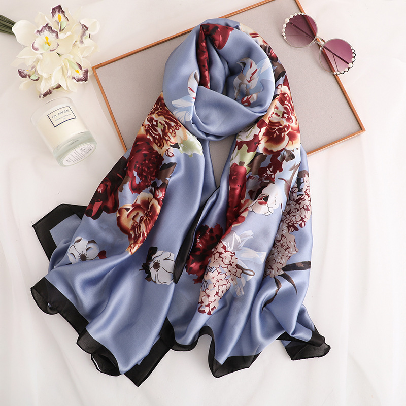 2019 luxury brand women   scarf   fashion spring summer silk   scarves   lady shawls and   wraps   print long size pashmina foulard stoles