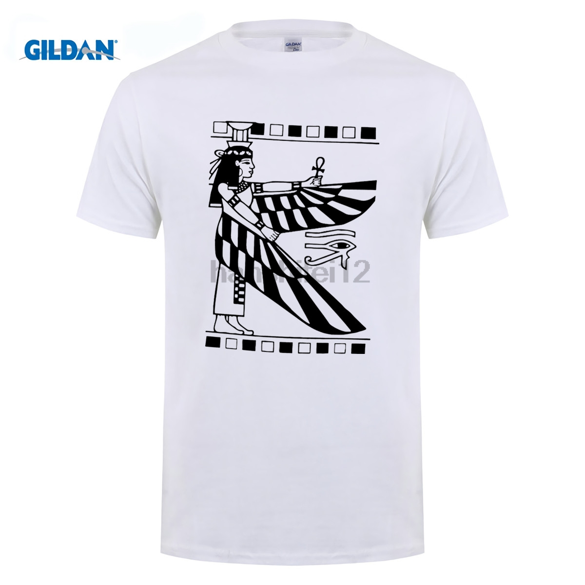 Gildan Egyptian Goddess Isis Ancient Egypt Empire Illuminati History T-shirt Tee Print T Shirts Man Short Sleeve Tee Shirt
