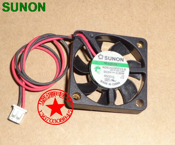 цены  SUNON 3006 30mm 3cm KDE0503PEV3-8 5V 0.35W 0.07A silent quiet server inverter HDD coolinig fan