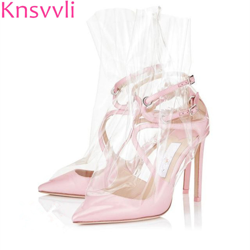 Knsvvli Transparent One Word Buckle Stiletto Fashion Heeled Shoes Woman spring summer Satin Cross-Tied Women High Heel Sandals Knsvvli Transparent One Word Buckle Stiletto Fashion Heeled Shoes Woman spring summer Satin Cross-Tied Women High Heel Sandals