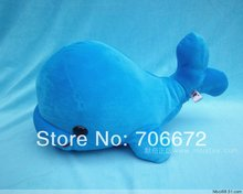 about 29cm blue whale plush toy doll t8872