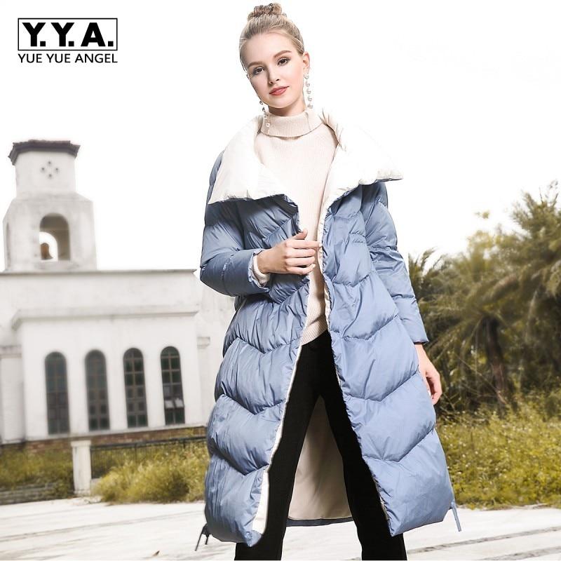 New Winter Women   Down     Coat   Outerwear Womens Loose Thick   Coat   Long Streetwear Warm Blue   Down   Jacket Ladies Windproof Parkas   Coats