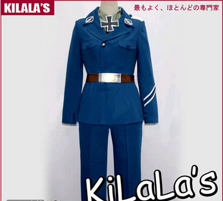 Free shipping  Axis Powers Hetalia Germany Uniform Halloween Costumes