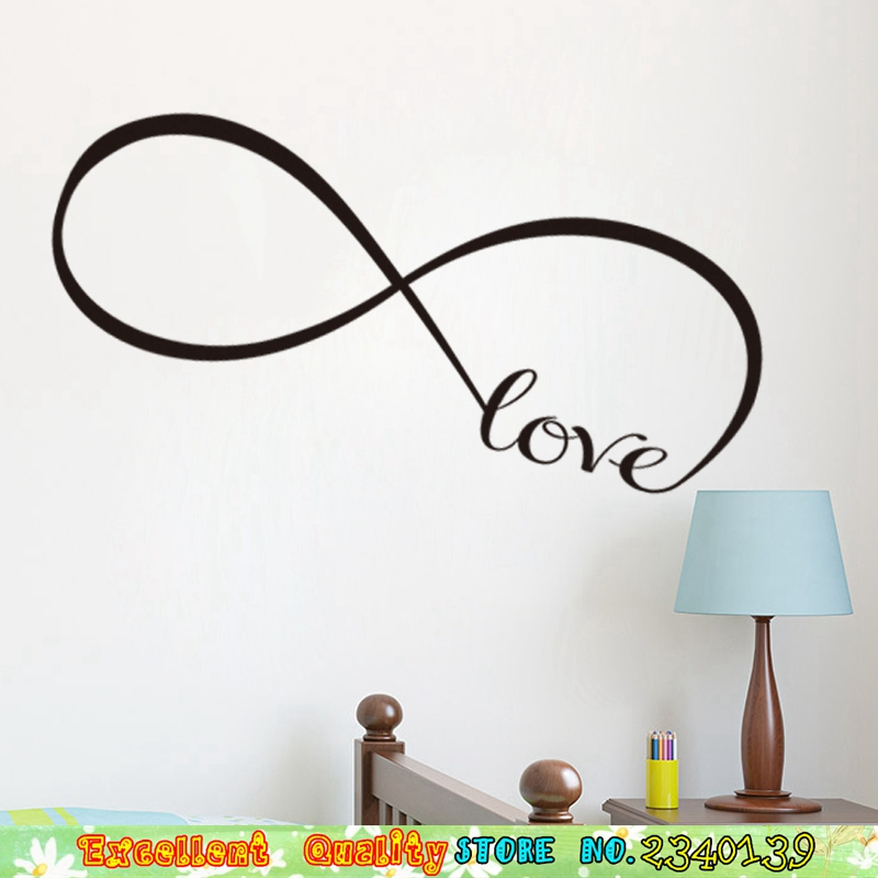 Large Infinity Symbol Love Wall Sticker Home Bedroom Mural Art