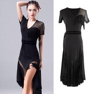 Image 2 - 2018 nuevo vestido de baile latino de moda para mujeres/señora International Standard salón Cha Salsa Dancing vestidos de Latina DL2558