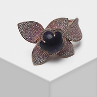 Local focal flower design exaggerated fashion rose gold ring