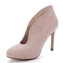 2016ผู้หญิงปั๊มรองเท้าผู้หญิงรองเท้าฤดูหนาวบางส้นรองเท้าส้นสูงรองเท้าสุภาพสตรีหนังแท้รองเท้าZ Apatos Mujerพลัสขนาด
