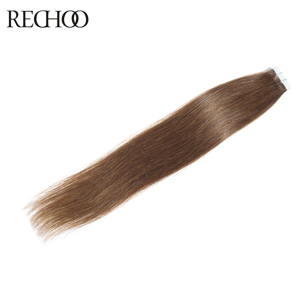 Rechoo Tape In Non Remy Human Hair Extensions 20 piece 50g Brazilian Human Hair 20 22