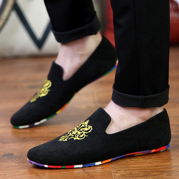 fashion suede men shoes soft leather flat shoes casual slip on moccasins men loafers hight quality driving flats705 slip-on shoe