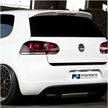 Aliauto Car-styling Carbon Fiber Vinyl Sticker Tail Trunk Car Stickers Shaped Version Accessories For Volkswagen Golf 6 GTI R20