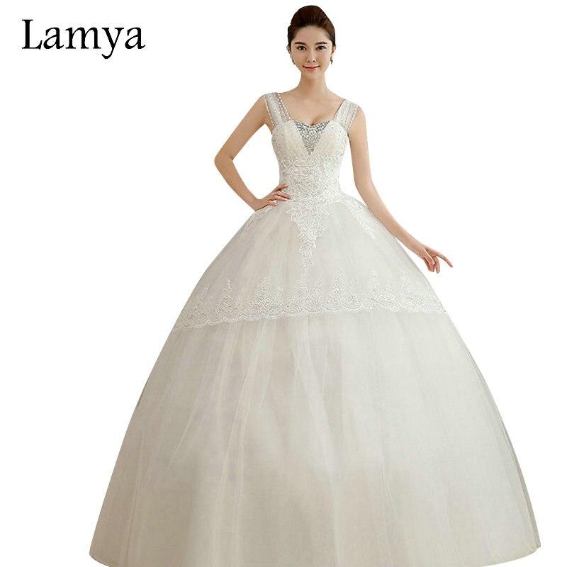 LAMYA Cheap Plus Size Sexy V Neck Wedding Dress 2018 Bride Gown Vintage Bridal  Dresses Retail 881b0db84f27