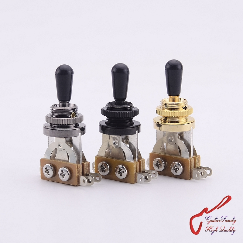 1 Piece GuitarFamily 3-Way Electric Guitar Pickup Selector Switch/Toggle Switch  ( #0190 ) MADE IN KOREA 1 set guitarfamily alnico pickup for casino jazz guitar nickel cover made in korea