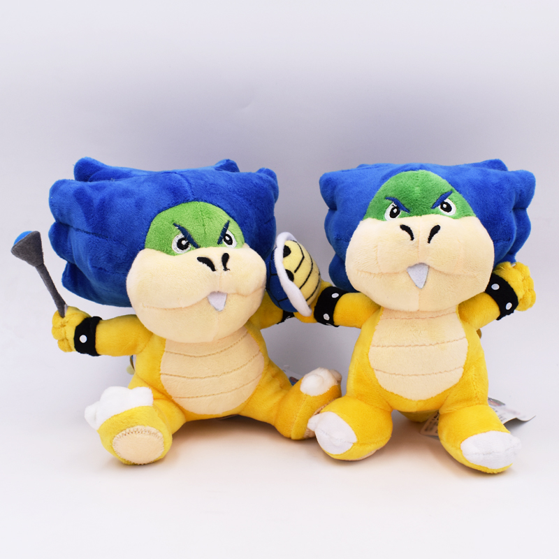 """2018 New Super Mario Bowser Bros 2Styles Ludwig Von Koopa With Blue Turtle Shell Stuffed Plush Toy With Tag 8""""20cm Free Shipping 1"""