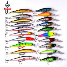 Minnow Fishing Lure Set Mixed Color Fishing Gear Bait Minnow Lures for Fishing Crank Spoon Lures стоимость