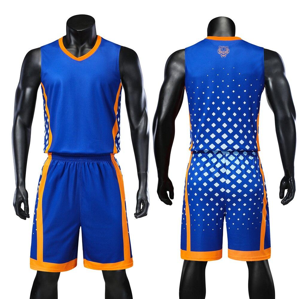 אישיות הפיך גברים כדורסל גופיות סטים צוות מדים ספורט ערכת חולצות מכנסיים חליפות לנשימה מותאם אישית הדפסת לצייר