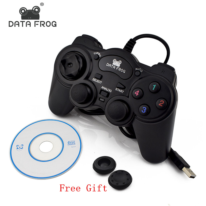 HOT Wired USB 2.0 Black Gamepad Joystick Joypad Gamepad Game Controller For PC Laptop Computer For Win7/8/10 XP/For Vista 1pcs for ps2 to for ps3 pc usb gamepad controller converter cord