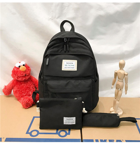 HTB1wvF5XUY1gK0jSZFCq6AwqXXab Nylon Backpack Women Backpack Solid Color Travel Bag Large Shoulder Bag For Teenage Girl Student School Bag Bagpack Rucksack