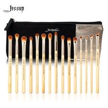 Jessup Brush 15pcs Beauty Bamboo Professional Makeup Brushes Set T137 & Cosmetics Bags Women Bag CB001 Make up brush tools