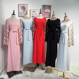 Image 3 - Vestido largo de lentejuelas con borlas para mujer, caftán Abaya de Dubái, ropa árabe islámica, vestido Hijab de banda