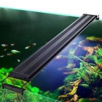 73-94 см аквариум светодиодный светодиодное освещение водное растение освещение для аквариума лампа с выдвижной Кронштейн подходит для аква...