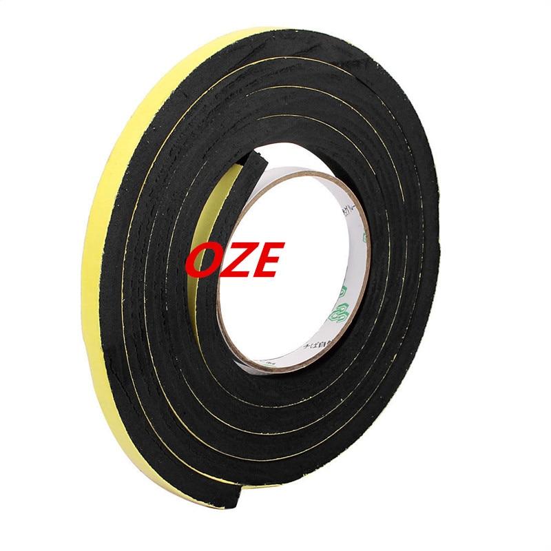 1pcs 10mm x 10mm Self Adhesive Shock Resistant Anti-noise Foam Tape 2M Length 10 x 10mm single sided self adhesive shockproof sponge foam tape 2m length