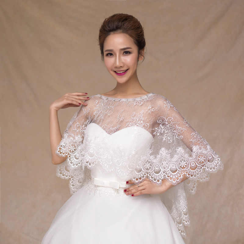 Wedding Dress Accessories.Bride S Wedding Cape Lace Shawl Spring Autumn And Summer Vest Wedding Dress Accessories Wedding Dress Shawl