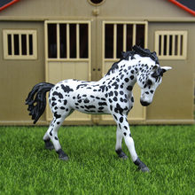 Original genuine Wild farm Animal Spotted Appaloosa stallion horse Figurine figure Model kids toy collectible(China)