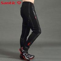 Santic Men S Windproof Trousers Fleece Thermal Long Outdoor Pants Cycling Pants Mountain Bike Pants C04007