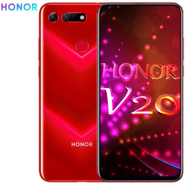 オリジナル honor 表示 20 honor v20 6 ギガバイト 128 ギガバイト Mobilephone に 6.4 インチキリン 980 オクタコアの Android 9.0 NFC 4000mAh