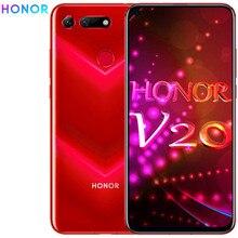 המקורי honor צפה 20 honor v20 6GB 128GB MobilePhone 6.4 אינץ קירין 980 אוקטה Core אנדרואיד 9.0 NFC 4000mAh