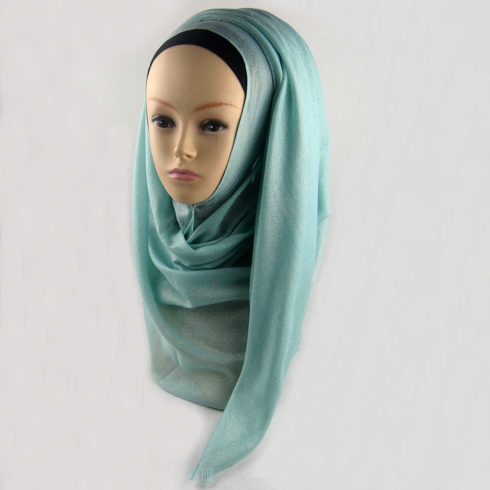 Мусульманский хиджаб мерцание шарф хиджабы блестящий шарфы мерцающий шаль, можете выбрать цвет - Цвет: color2