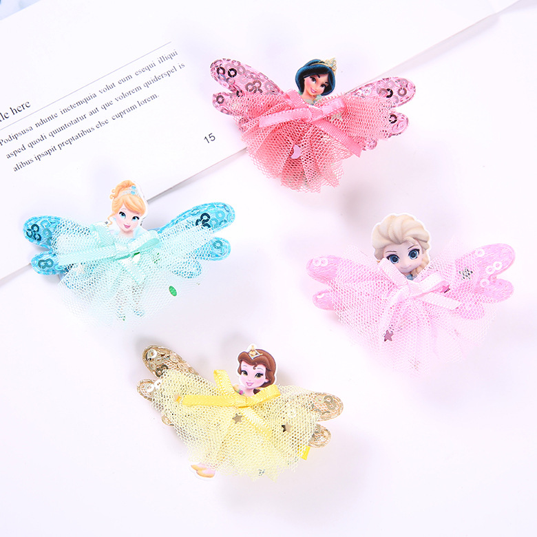 $1.99 - 1Pcs Disney Princess Theme gift Children Headwear Hair Clips   2