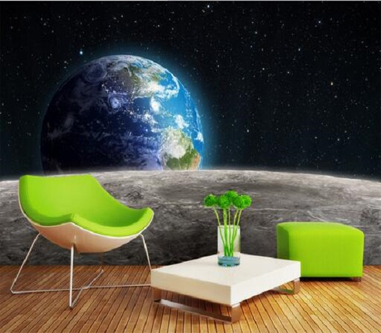 Custom 3D Star Science Fiction wallpaper space between planets themed bars KTV personality package backdrop wallpaper murals the great science fiction