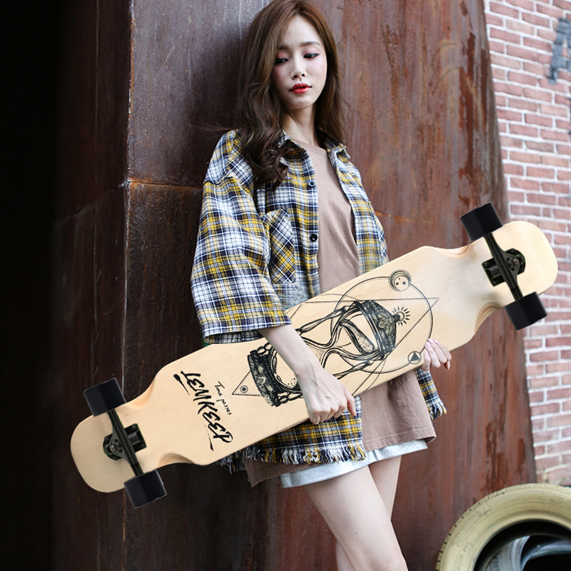 Highway Slide Long Skateboard Dancing Longboard Deck Street Road 4 Wheels Freestyle Skate Longboard