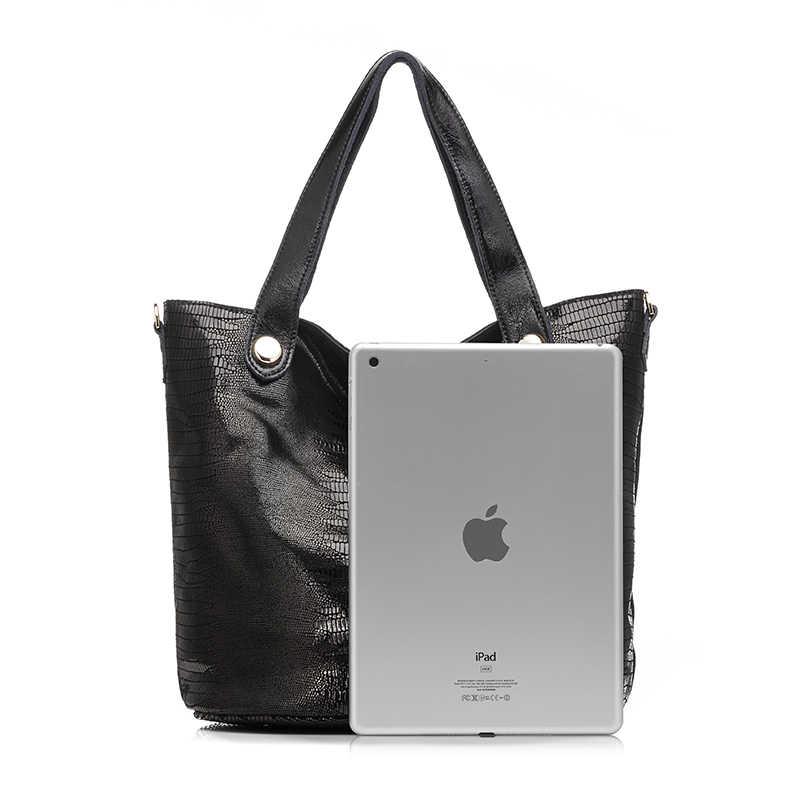 MAIS REAL bolsa do couro genuíno serpentina das mulheres clássicas estampas de couro tote bolsa feminina borla sacos de ombro das senhoras saco crossbody