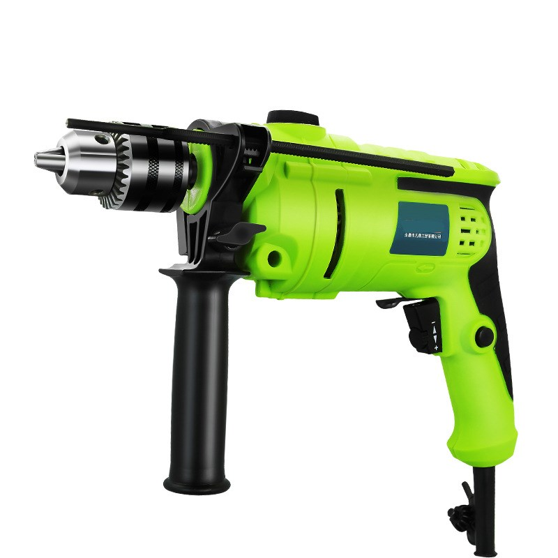 220V Speed Adjustable 13mm AC Impact Drill Electric Hammer Electric Drill Power Drill Woodworking Power Tool With Drill Bits Kit jm1288 fashionable chiffon sleeveless women s dress green size l